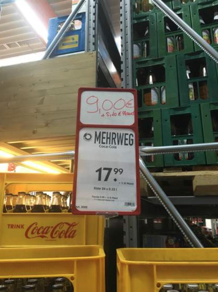 Coke Zero und Cola light zum halben Preis bei Hol' ab in Bremen-Osterholz