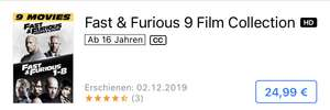ITunes: The Fast and the furious - 9 Film Collection k