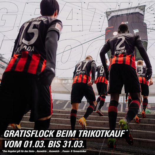 Eintracht Frankfurt Flock bei Kauf des Trikots gratis bis 30.04.2021