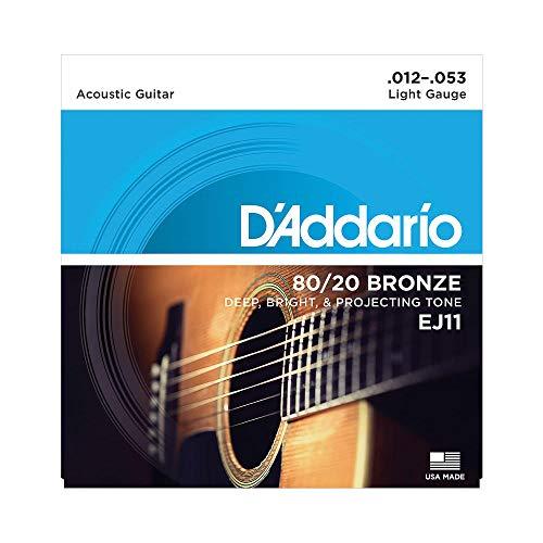 D'Addario EJ11 Bronze Satz Akustikgitarren-Saiten Light 012' - 053' [Student/Prime]