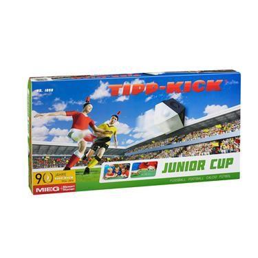 TIPP-KICK Junior-Cup Spielset, inkl. Spielfeld, Banden, je 2 Kicker und Torhüter in rot und gelb, 2 Plastiktore, 2 Bälle, Maße 80x57 cm