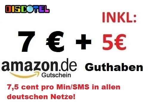 [EBAY] Discotel 5€ Guthaben + 7€ Amazon Gutschein nur 4,95€