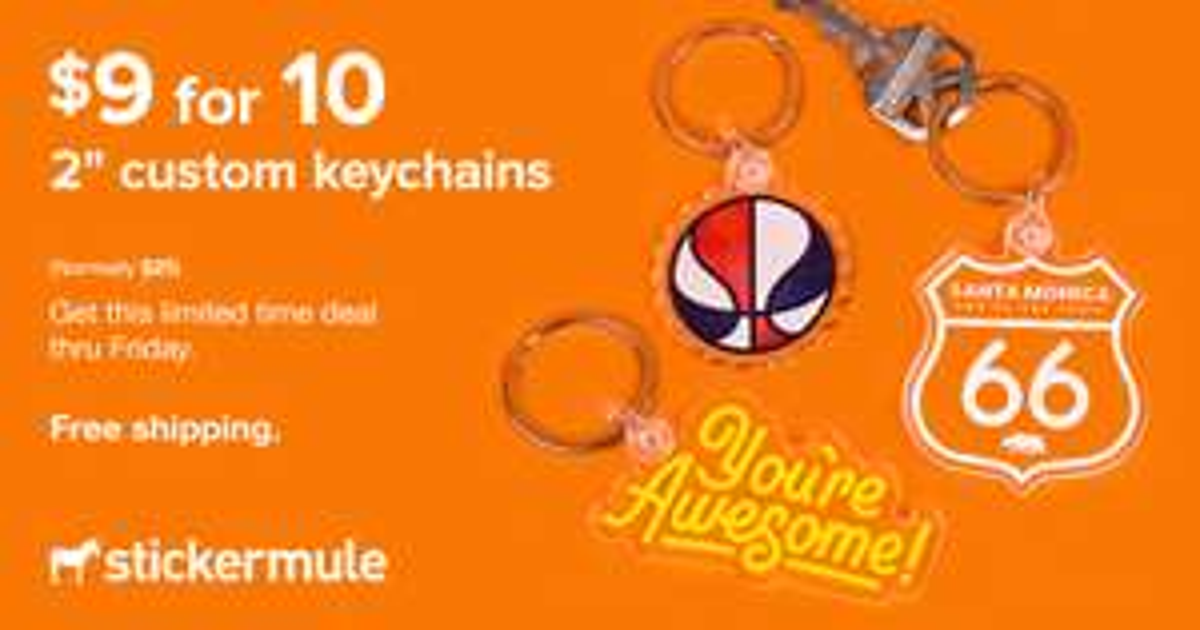 [Stickermule] 10 Benutzerdefinierte Schlüsselanhänger (51x51mm)