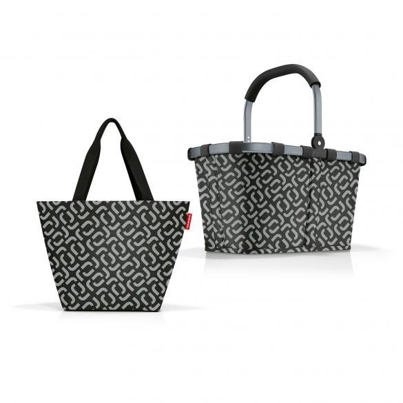 Reisenthel Taschenset (Shopper M + Carrybag signature black) + Für Sie Abo (8 Ausgaben) für 30 €