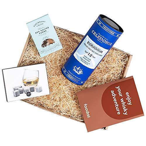 Foodist Whisky Box Edradour 12 Jahre Caledonia inkl. Whiskysteine, Salted Caramel Fudge und Booklet.