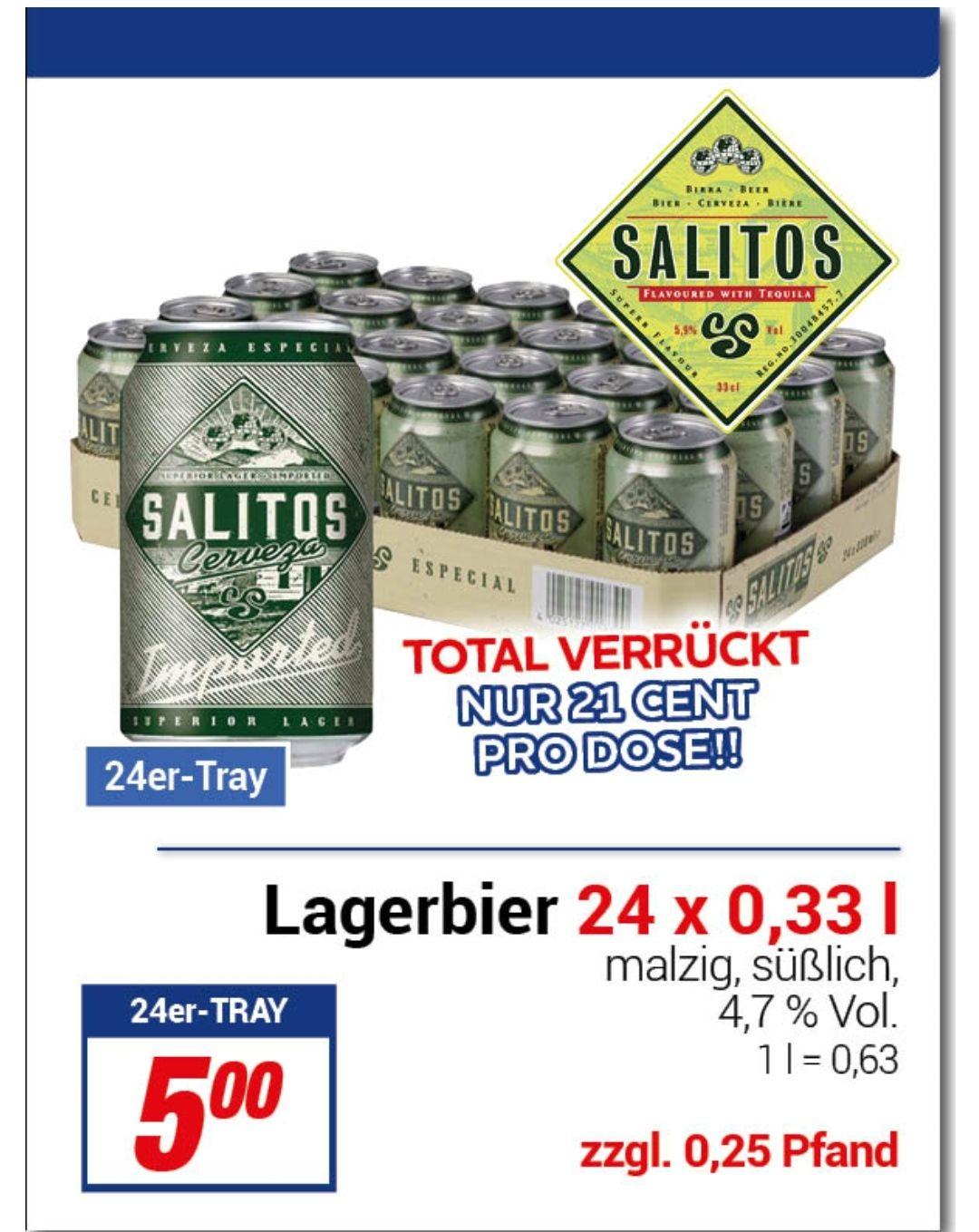 """24 x 0,33er """"Salitos Cerveza Imported"""" für 5€"""