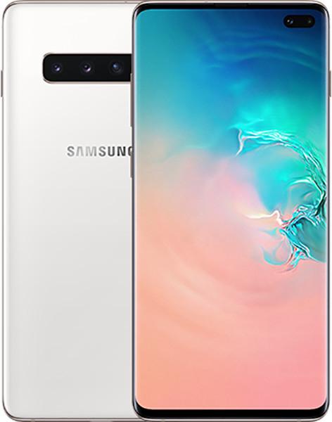 """Samsung Galaxy S10+ 6.4"""" WQHD+ Dual-SIM Smartphone (8GB/128 GB, USB-C, 802.11ax, Qi, 4100mAh, Android 11) Ceramic White"""