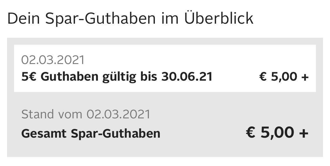 5€ Sparguthaben Otto (Personalisiert)
