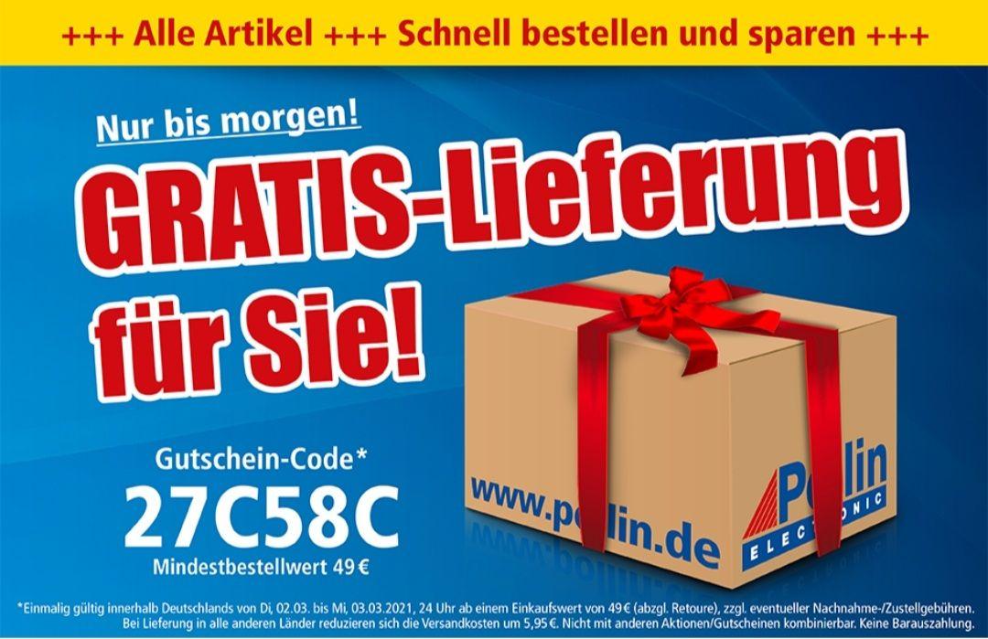 Pollin Gratis-Lieferung ab 49€ vom 02.03-03.03 um 24 Uhr