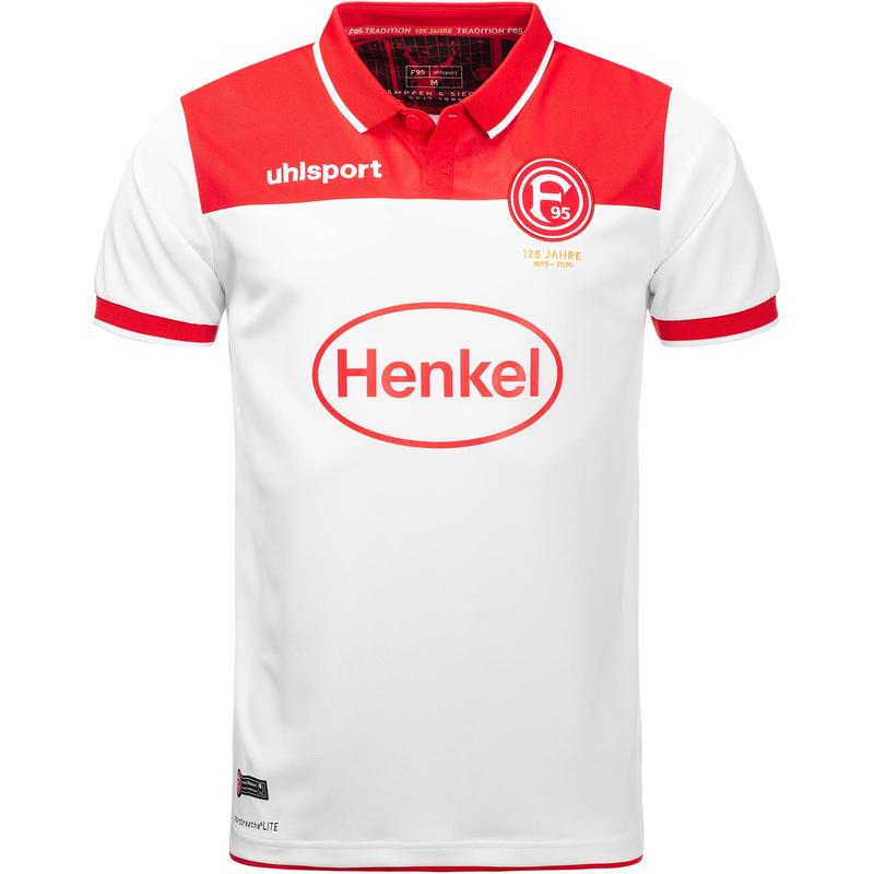 uhlsport Fortuna Düsseldorf Heimtrikot kurzarm 2019/20 rot/weiß (Größen 128 bis 5XL)