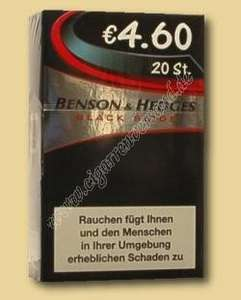 Benson & Hedges Black black 4,60€ 20stk