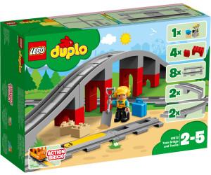 LEGO Duplo - Eisenbahnbrücke und Schienen (10872) für 16,99€ | Mickys und Minnies Geburtstagszug (10941) für 18,99€