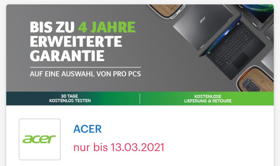 [ Shoop | Acer ] 5% Cashback + 15% Rabatt auf PC+Monitor + bis zu 200€ Rabatt auf ausgewählte Produkte