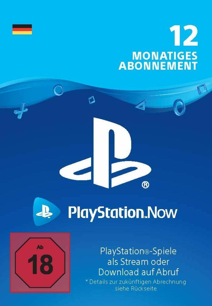 12 Monate PlayStation Now (für deutsche Konten, auch mit bestehendem Abo verwendbar)