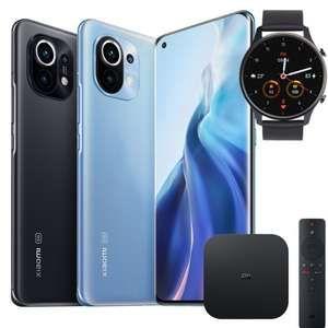 Xiaomi Mi 11 256GB mit Watch und TV Box im Vodafone Otelo (40GB LTE, Allnet/SMS) mtl. 29,99€ einm. 203,99€ | keine AG