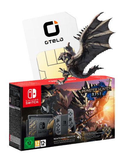 Nintendo Switch Monster Hunter Rise Edition +15€ eShop im Vodafone Otelo (40GB LTE, Allnet/SMS) mtl. 29,99€ ohne Zuzahlung | keine AG