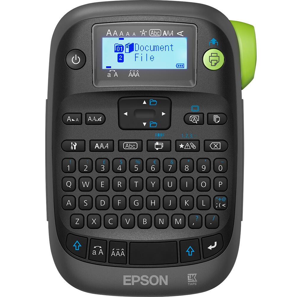 Epson LabelWorks LW-K400 Etikettendrucker (QWERTZ, 180 dpi, verschiedene Schriftarten, Cut & Print, integrierter Speicher, Barcode-Druck)