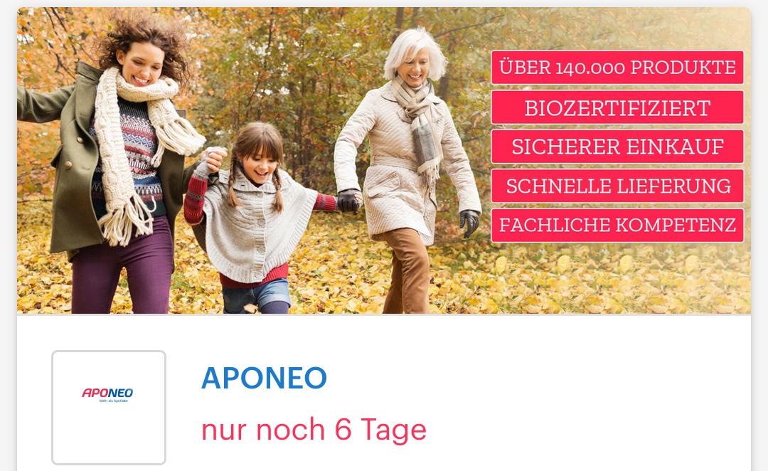 [ Shoop | Aponeo ] 5% Cashback + 5€ Shoop-Gutschein* ab 55€ MBW + 20 FFP2 Masken gratis(ab 49€ MBW)