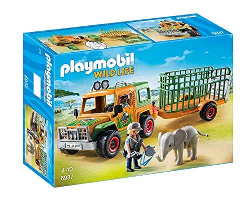 PLAYMOBIL - Wild Life, Rangergeländewagen mit Anhänger