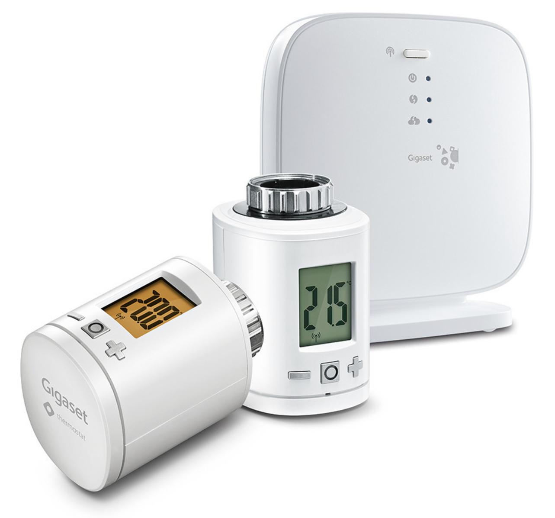 Gigaset Heating Pack inkl. 2 x Gigaset Heizkörperthermostat + Gigaset Base kompatibel mit Alexa, Google Home für 54,90€ inkl. Versandkosten