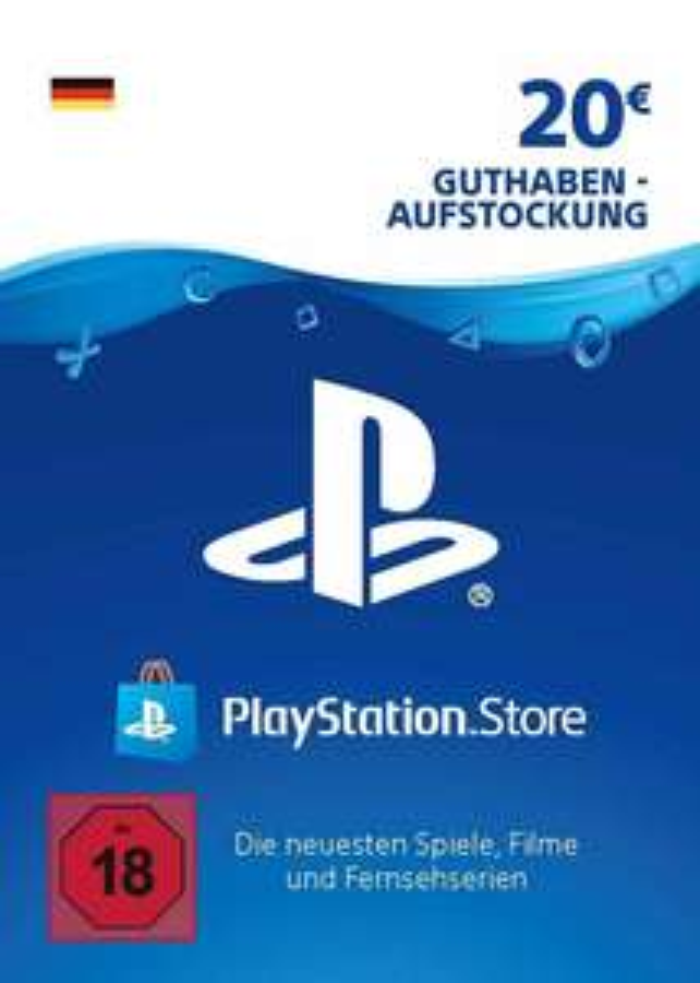 20€ PlayStation Store Guthaben für 15,59€ (PSN Deutschland, Faktor 0.78)