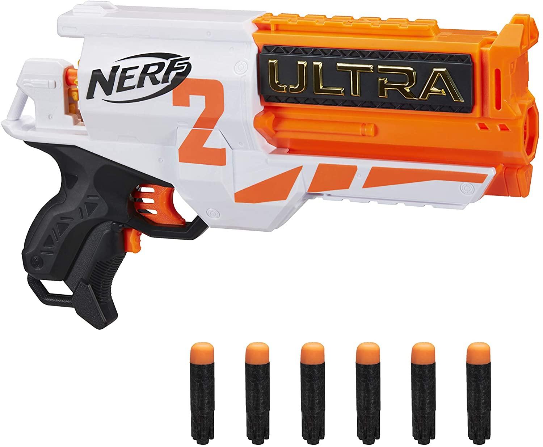 [Mandrops AG] Hasbro Nerf Ultra Two motorisierter Blaster – schnelles Nachladen von hinten – enthält 6 Nerf Ultra Darts