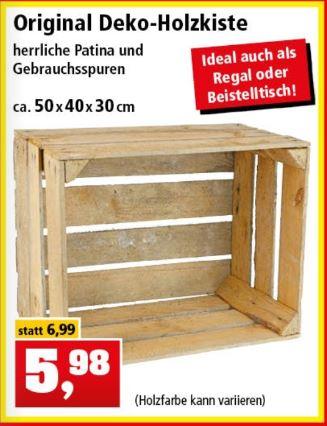 Deko-Holzkiste 50x40x30 cm