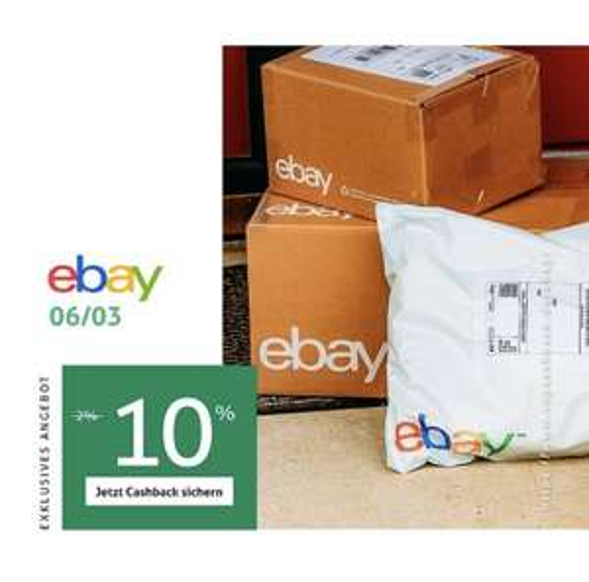 [Topcashback] 10% Cashback bei ebay am 06.03.2021