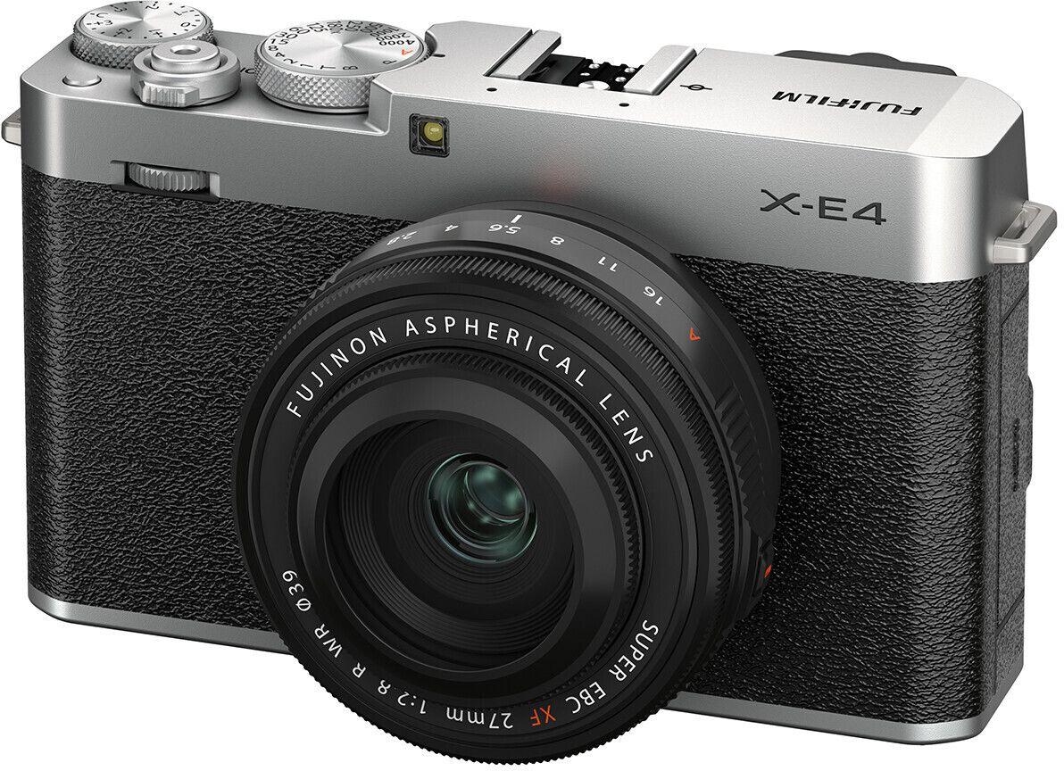 Fujifilm X-E4 Systemkamera inkl. Fujinon XF27F2,8 Objektiv - Vorbestellung