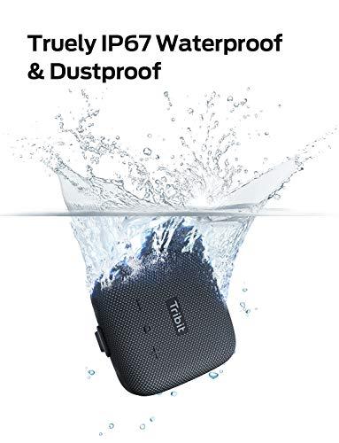 Tribit StormBox Micro Wireless / Lautsprecher Portable Mini Outdoor IPX67 Wasserdichter,8 Stunden Spielzeit (Schwarz)