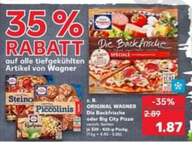 Wagner Bella Napoli 2,26€ und mit 1€ Coupon für 1,26€