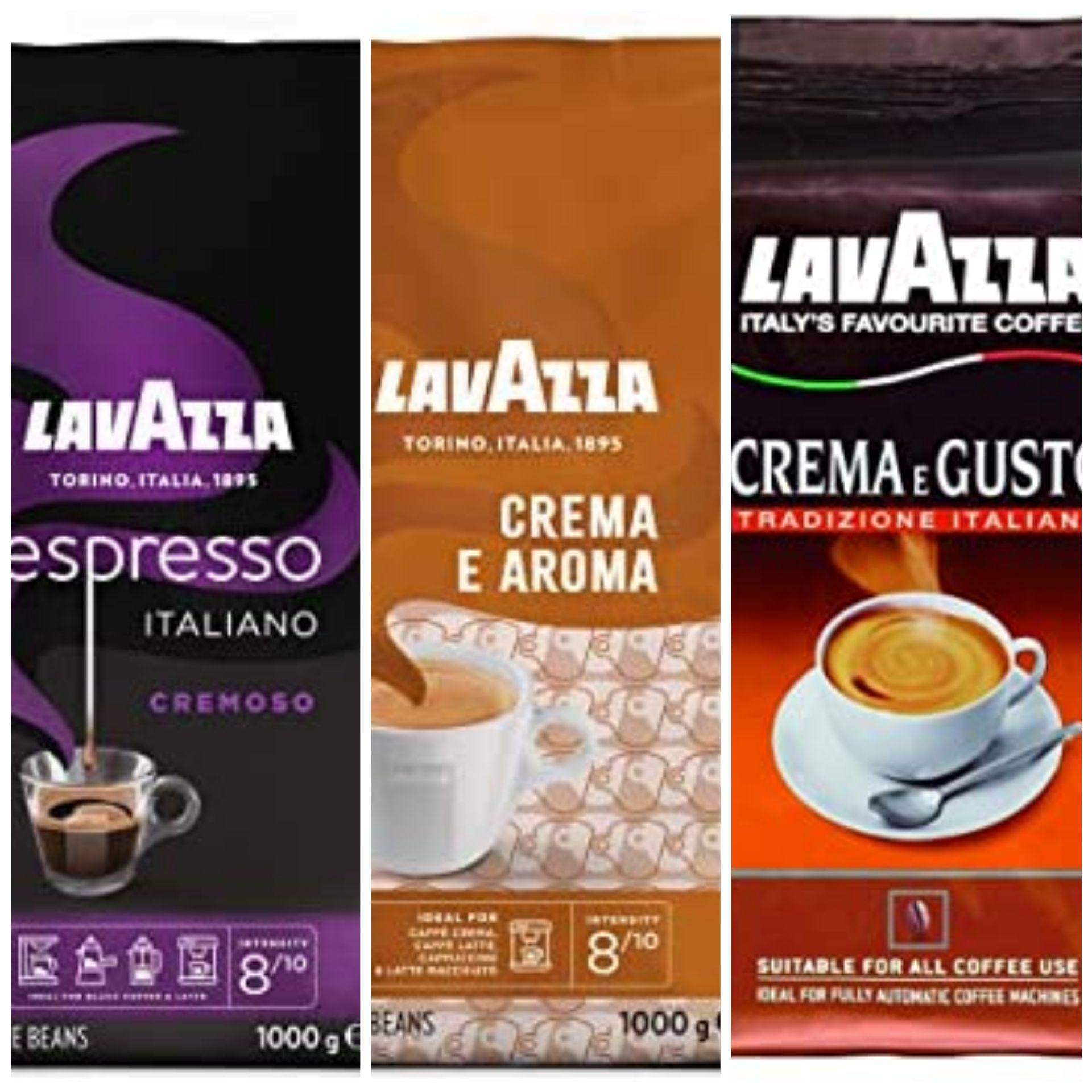 1kg Lavazza Kaffeebohnen - verschiedene Sorten, durch 5er Sparabo 6,99€ möglich - Prime*Sparabo*