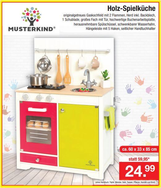 Musterkind Holzspielküche für 24,99 Euro [Zimmermann]