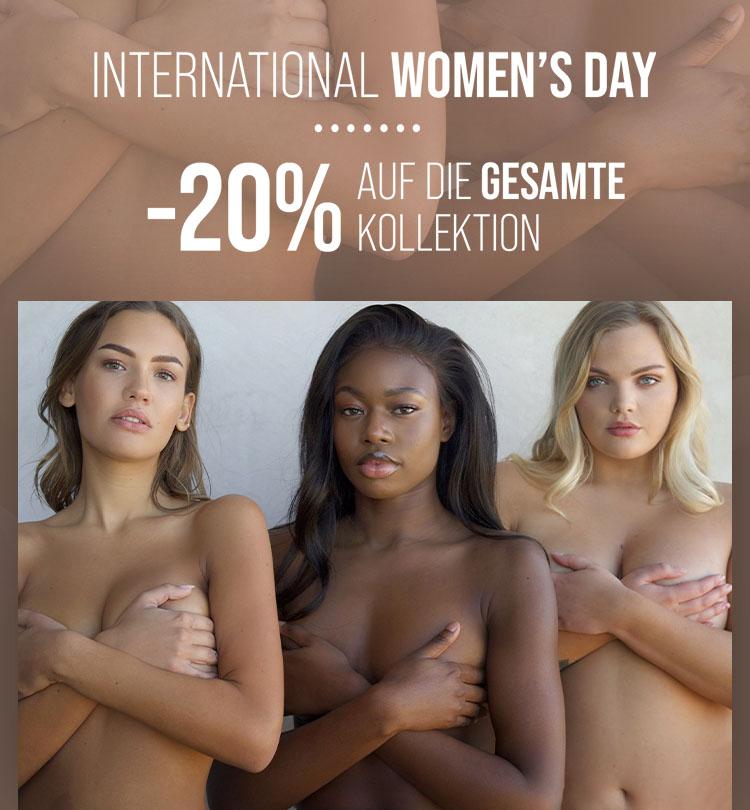 20% auf alles zum Frauentag