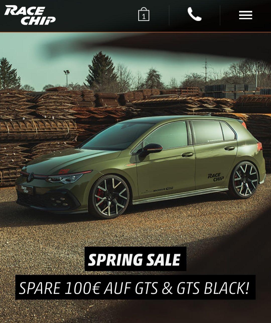Spring Sale bei Racechip 100€ Rabatt