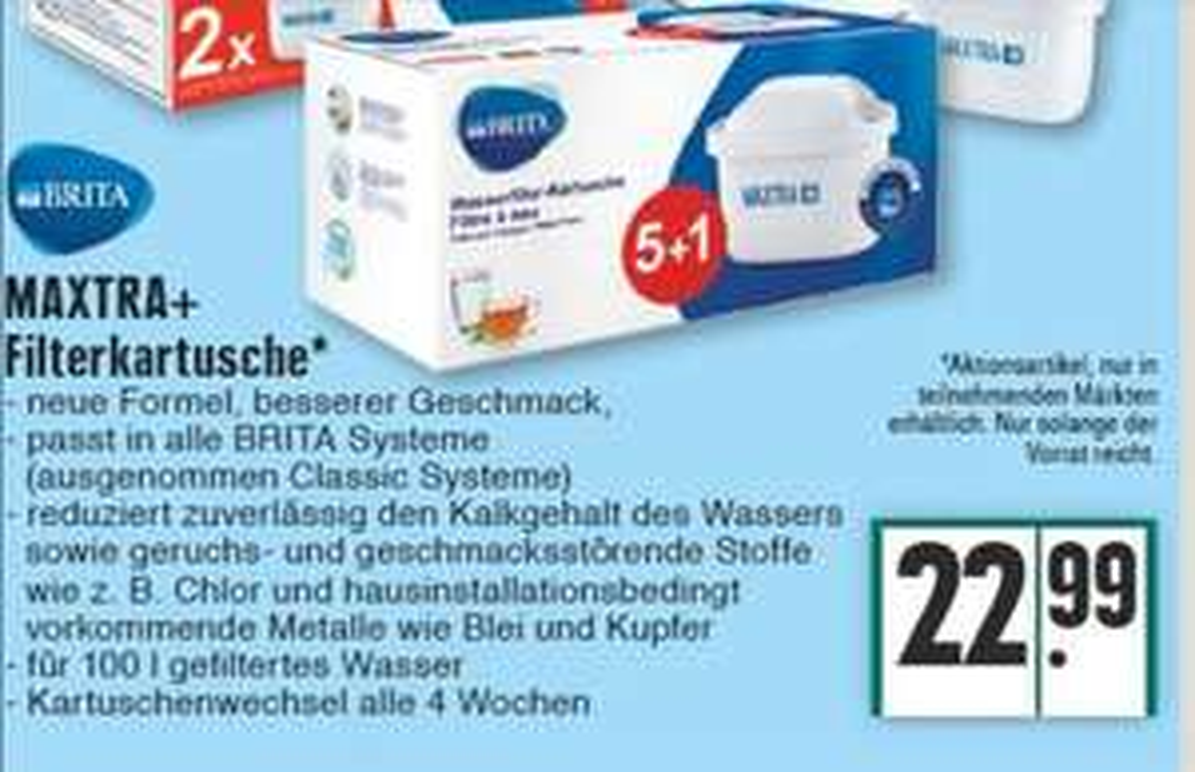 Edeka MAXTRA+ Filterkartusche 6er (Lokal Rhein-Ruhr)