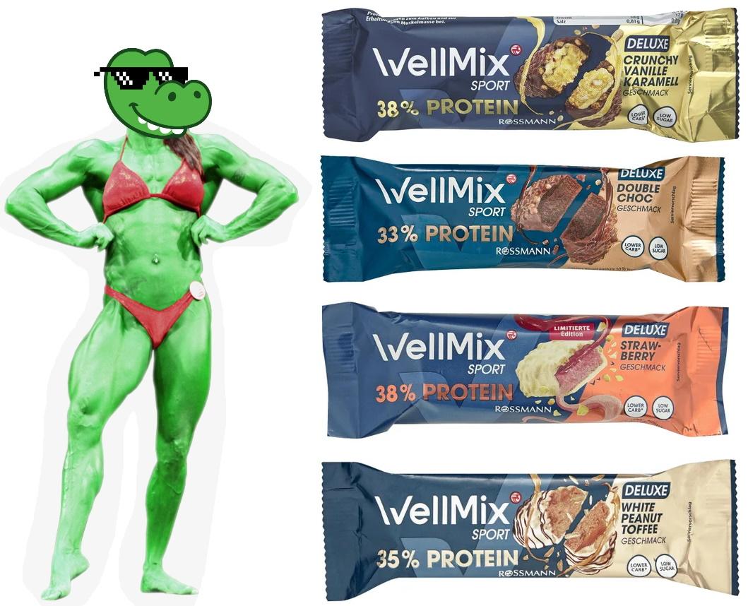 Pumpermarkt [10/21]: z.B. 45g WellMix Sport Proteinriegel Deluxe für 0,71€ bei Rossmann