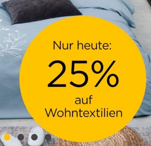 Baur | 25% auf Wohntextilien | z.B. Matratze, Handtücher o. Gartenmöbelauflagen