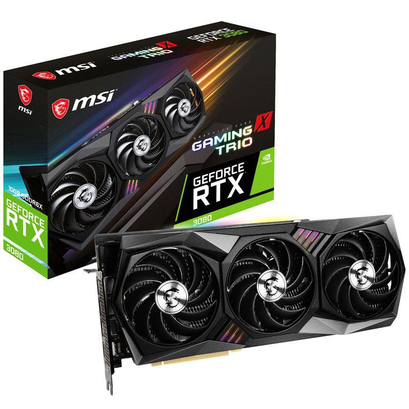 Die MSI RTX 3060 Gaming X Trio, die auch eine sehr gute Verfügbarkeit hat