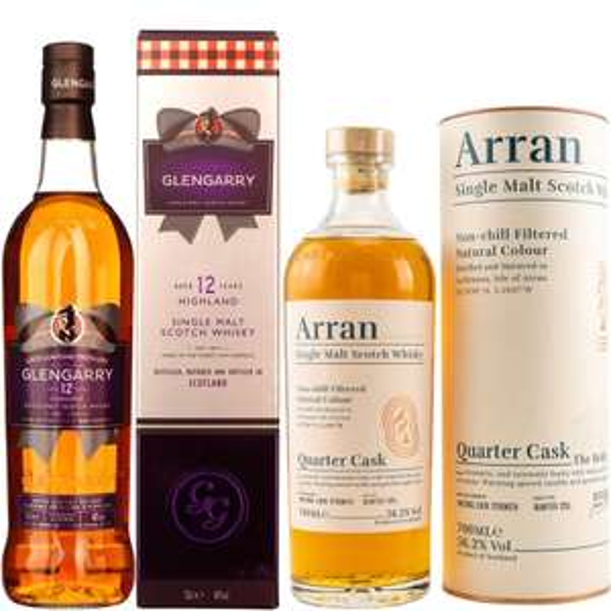 Whisky-Übersicht #78: z.B. Glengarry 12 Highland Single Malt für 24,35€, Arran Quarter Cask (The Bothy) für 38,45€ inkl. Versand