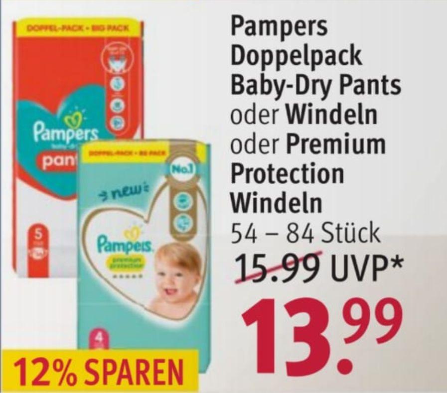 [Rossmann] Pampers Baby Dry und Premium Protection Doppel-Pack mit Coupon und 10% Rabatt