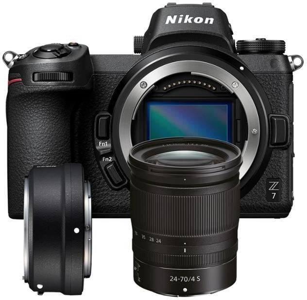 Nikon Z7 Systemkamera + Nikkor Z 24-70mm F4 S Objektiv + FTZ Adapter