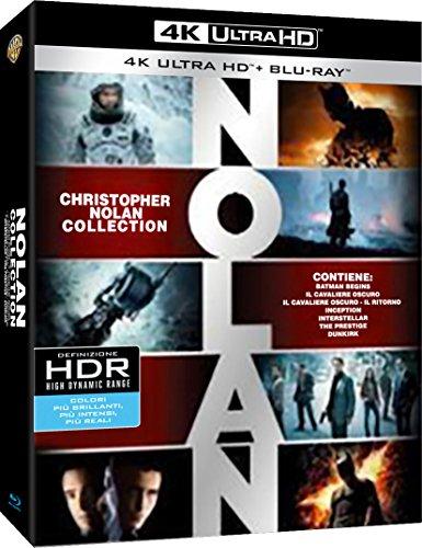 Nolan Collection (Inception, Interstellar, Batman Begins, The Dark Knight, Prestige 4K Ultra HD Blu-ray mit deutscher Tonspur)