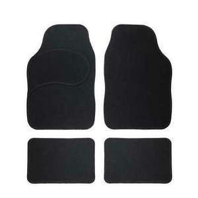 Textil-Fußmatten im 4-teiligen Set, universal, schwarz
