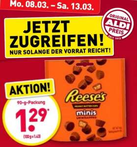 Reeses 90g REESE'S Peanut Butter Cup minis (14,33⅓€/kg)