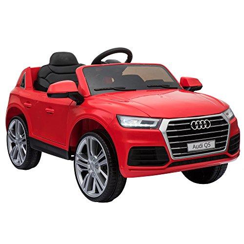 [Amazon-Blitzangebot] HOMCOM Kinder Elektroauto mit Fernbedienung, Audi Q5, Rot, Maße 116 x 75 x 56cm, 2x 12 Volt Motor