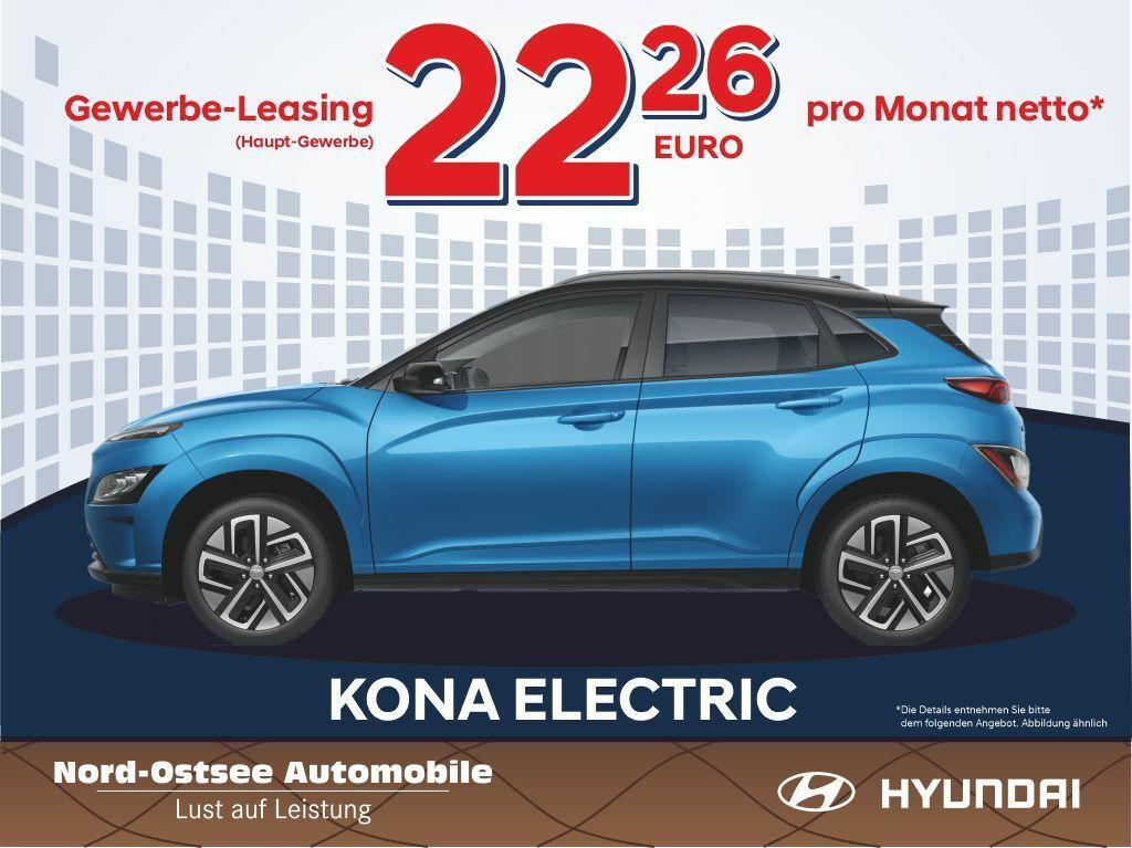 (Gewerbeleasing) Hyundai Kona EV FL MJ21 für effektiv 57,24€ mtl. | 24 Monate / 10tkm pro Jahr | 305km WLTP | LF 0,07