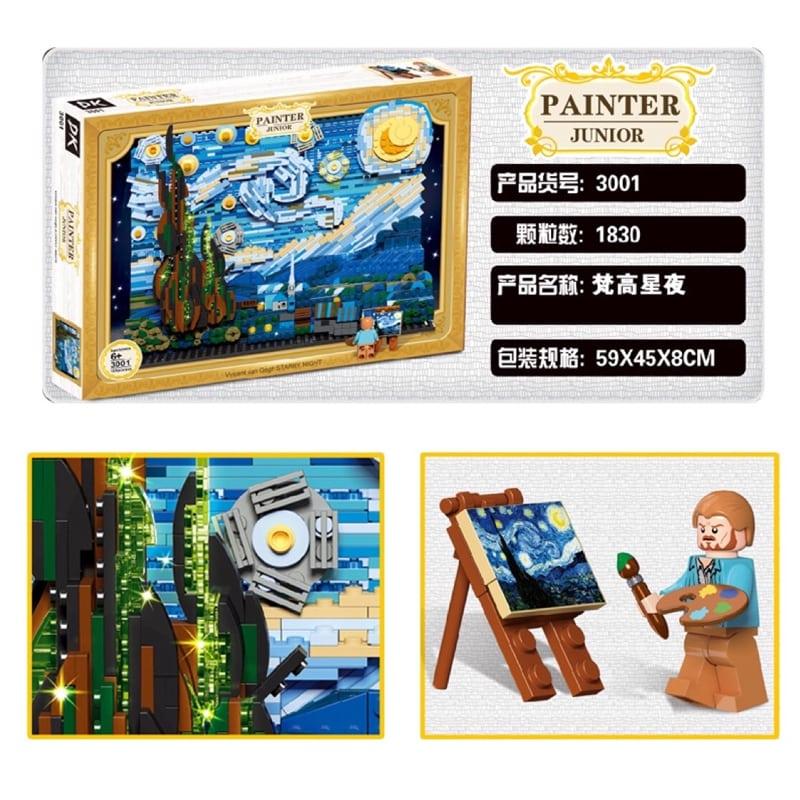 [Klemmbausteine] DK-3001 Vincent van Gogh: The Starry Night 1830 Teile ohne OVP
