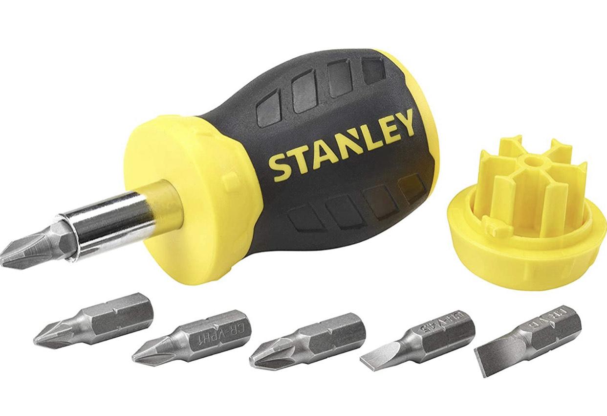 [Prime] STANLEY Bit-Schraubendreher Stubby - 6 Bits - magnetische Spitze