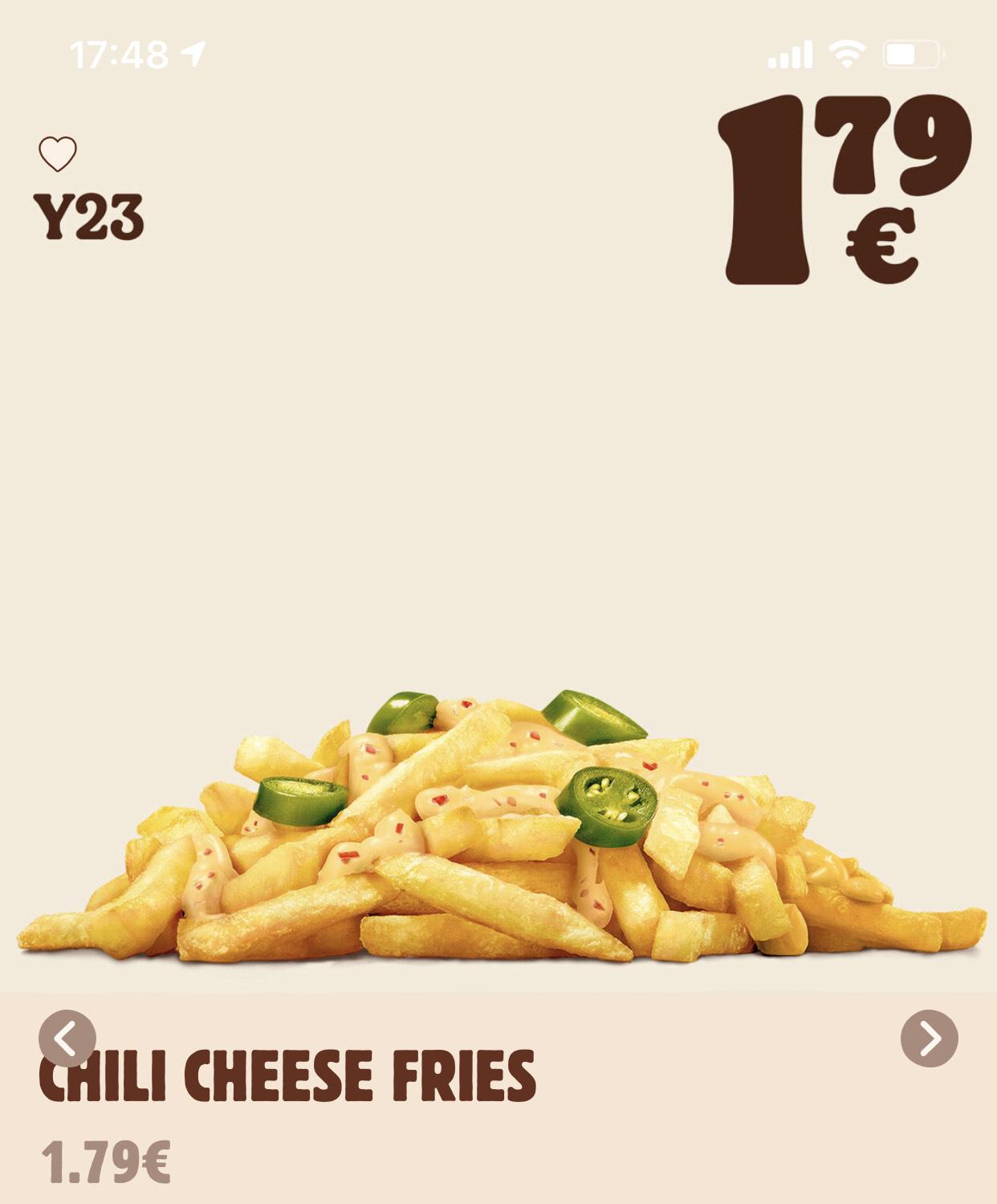 Chili Cheese Fries für nur 1,79 EUR